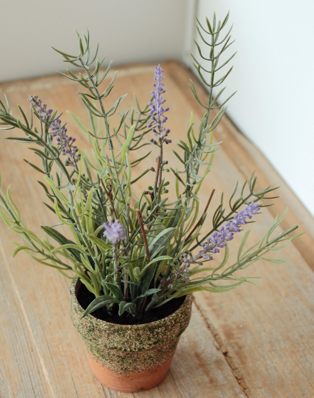 Künstlicher Lavendel, getopft, 24 cm, lavendel