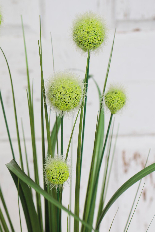 Künstliche Kugelgras, 75 cm, grün