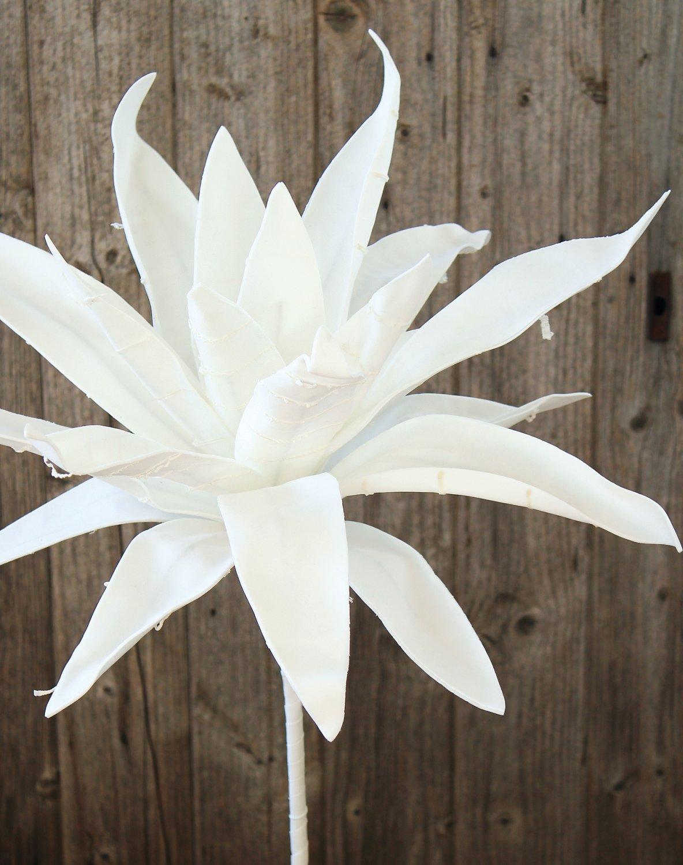 Künstliche Soft flower 'Aloe', 90 cm, pur weiß