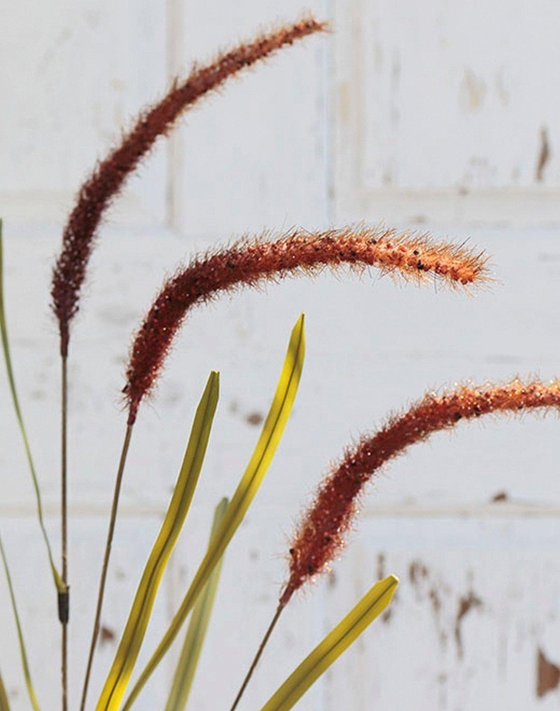 Künstliche Liriope, 4-fach, 95 cm, burgunderrot