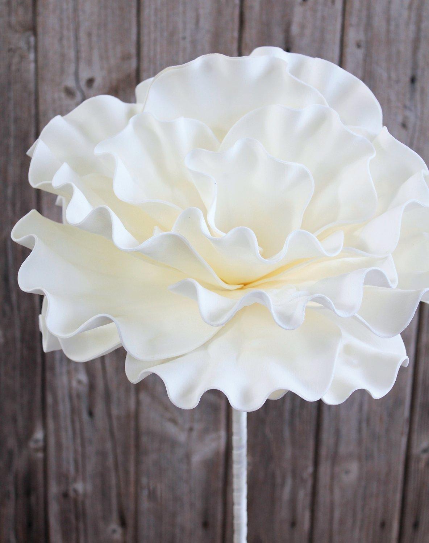 Künstliche Soft flower 'Blüte', 90 cm, weiß