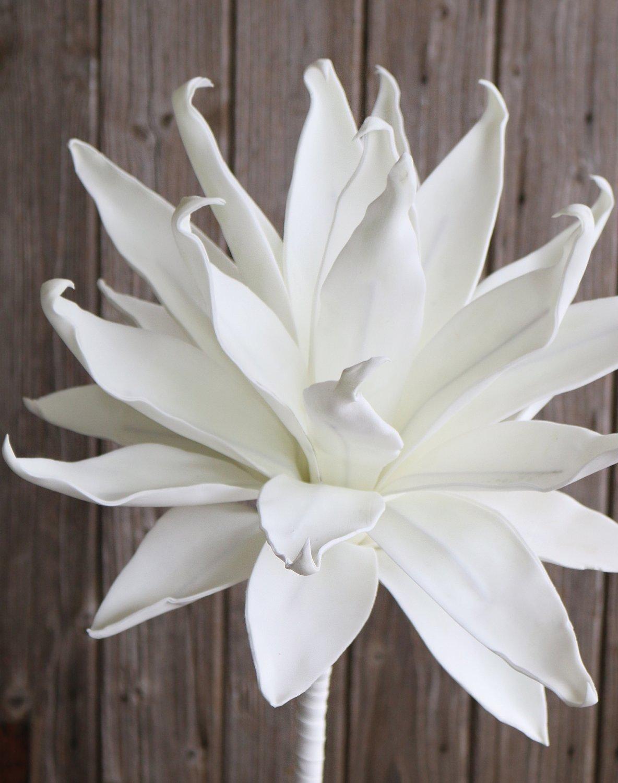 Künstliche Soft flower 'Agave', 95 cm, pur weiß