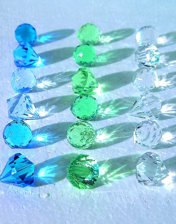 Deko Diamanten / -kugeln, 3 Farbtöne, 3 cm, blau