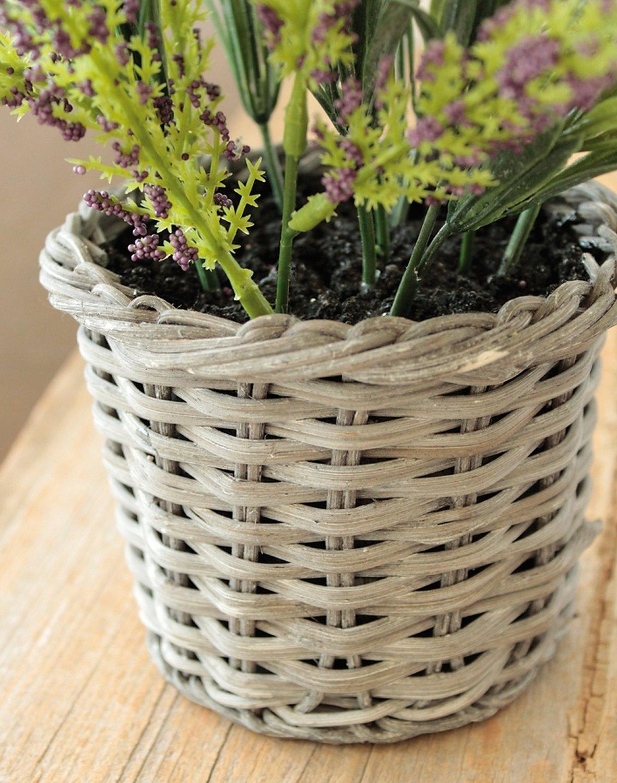 Künstlicher Lavendel im Korb, 30 cm, dunkelviolett