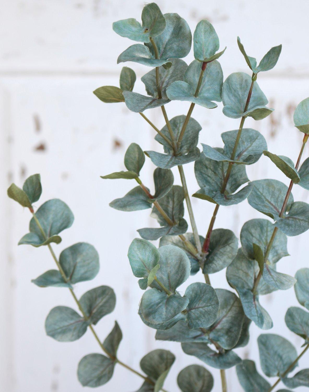 Künstlicher Eukalyptuszweig, 74 cm, grün