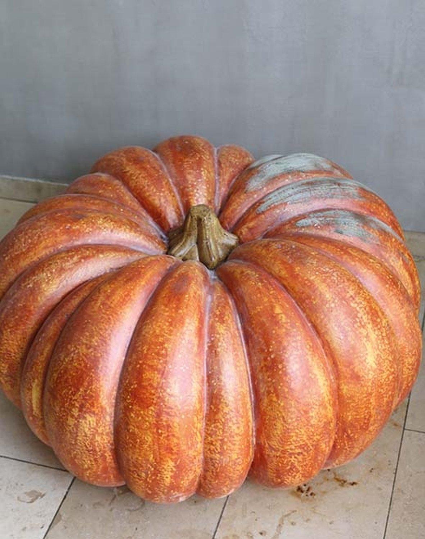 Künstlicher Kürbis, 70 cm, orange