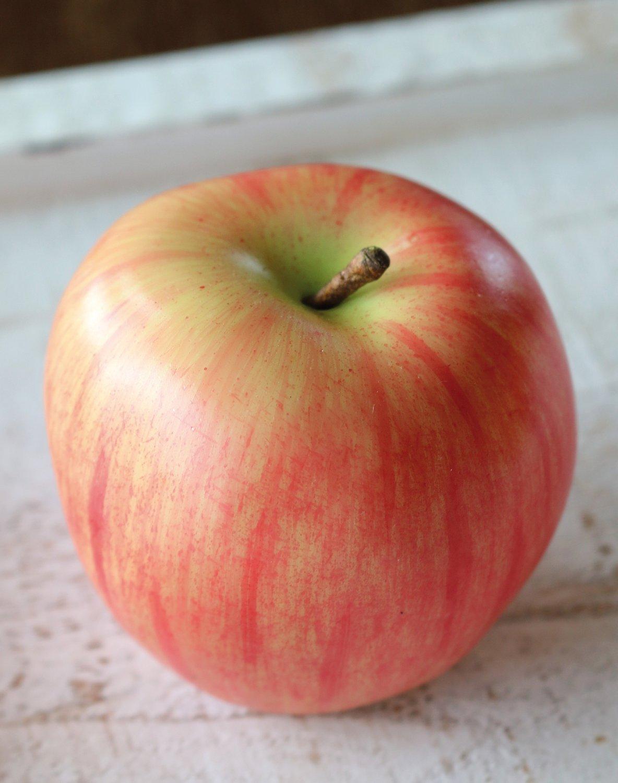 Künstlicher Apfel, 7 cm, rot-gelb