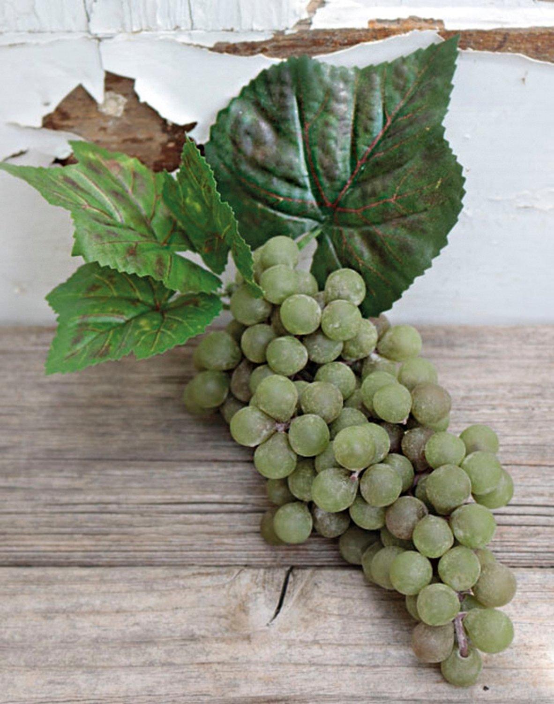 Künstliche Weintraube, 15 cm, grün