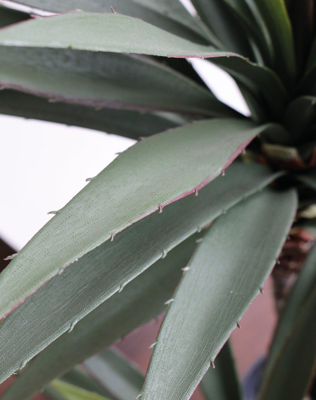 Künstliche Palme, 2-fach, getopft, 115 cm, grün
