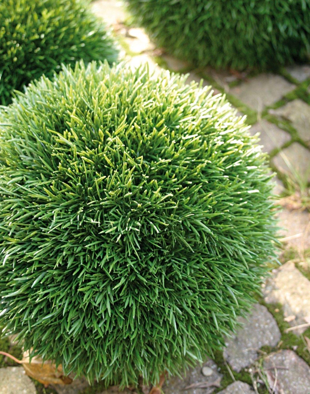Künstliche Graskugel aus Kunststoff, Ø 15 cm, grün