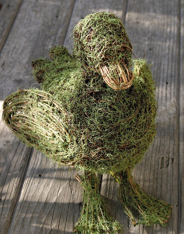 Künstliche Moos-Ente, 33 cm, grün