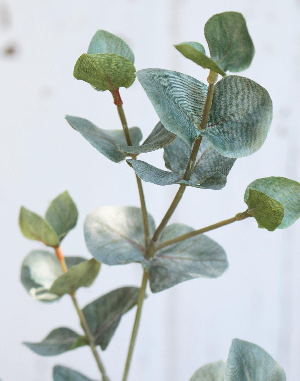 Künstlicher Eukalyptuszweig, 55 cm, grün