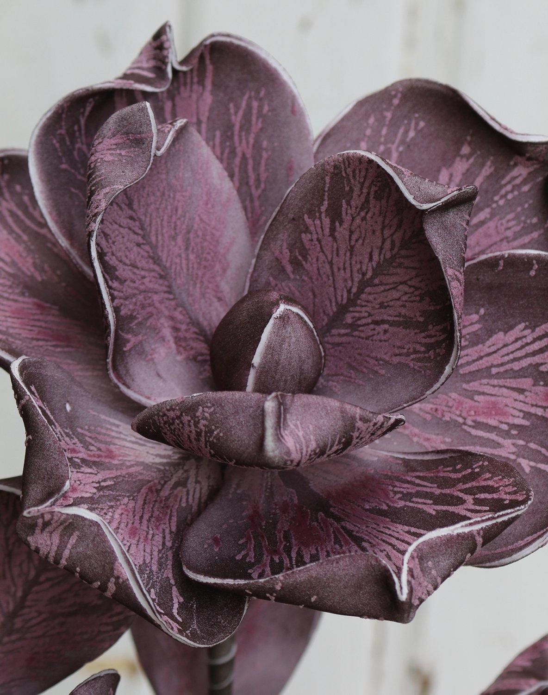 Künstliche Soft flower 'Blüte', 115 cm, dunkelviolett