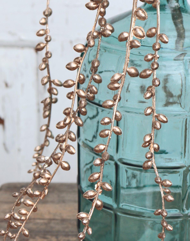 Künstliche Dekogirlande, 73 cm, champagner-camelie