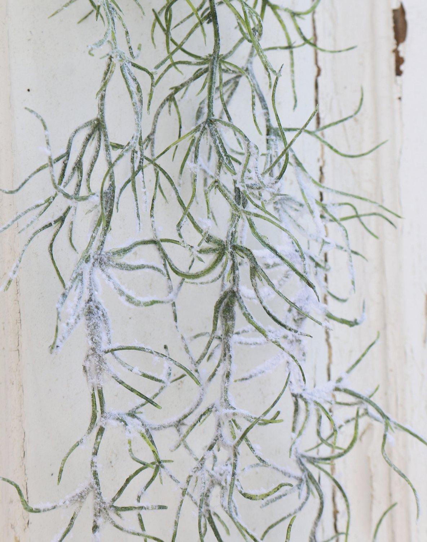 Künstliche Dekogirlande mit Schnee, 100 cm, grün-weiß