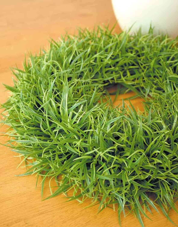 Künstlicher Graskranz aus Kunststoff, Ø 30 cm, hellgrün