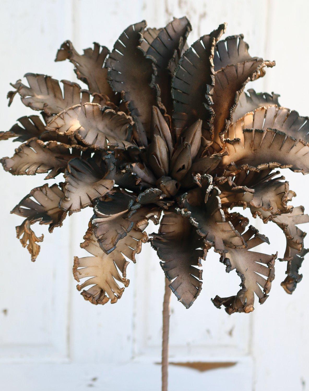 Künstliche Soft flower 'Blüte', 80 cm, braun