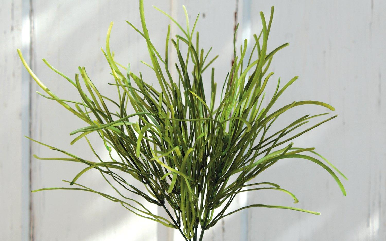 Künstlicher Grasbusch, 35 cm, grün