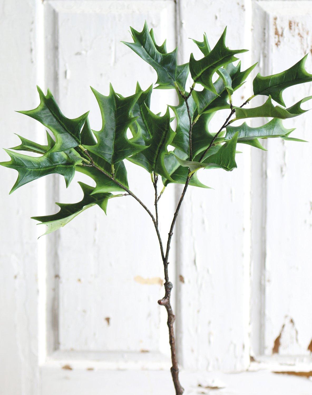 Künstlicher Ilexzweig, 72 cm, grün