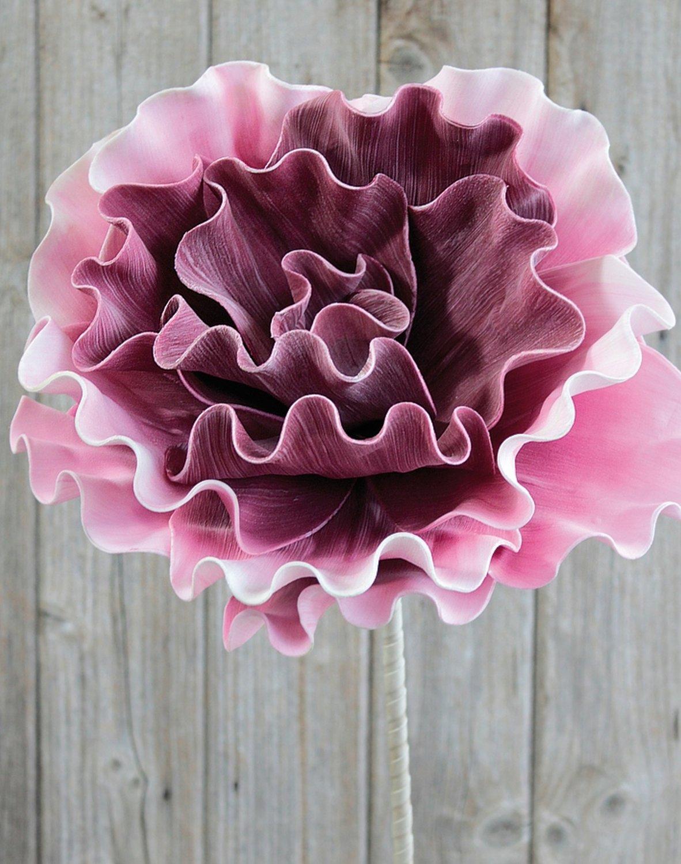 Künstliche Soft flower 'Blüte', 90 cm, pink