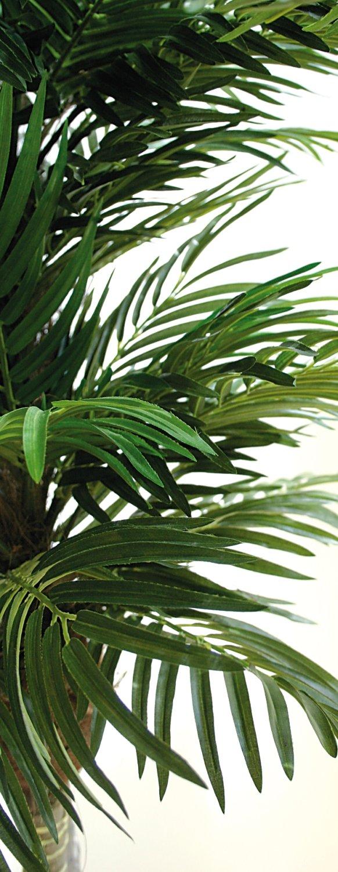 Künstliche Palme, 3-fach, getopft, 150 cm, grün