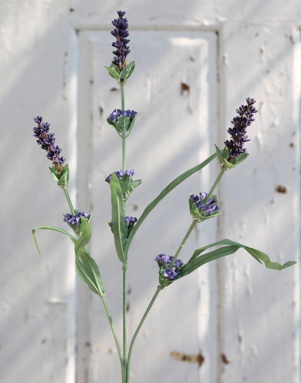 Künstlicher Lavendel, 3-fach, 60 cm, dunkelviolett