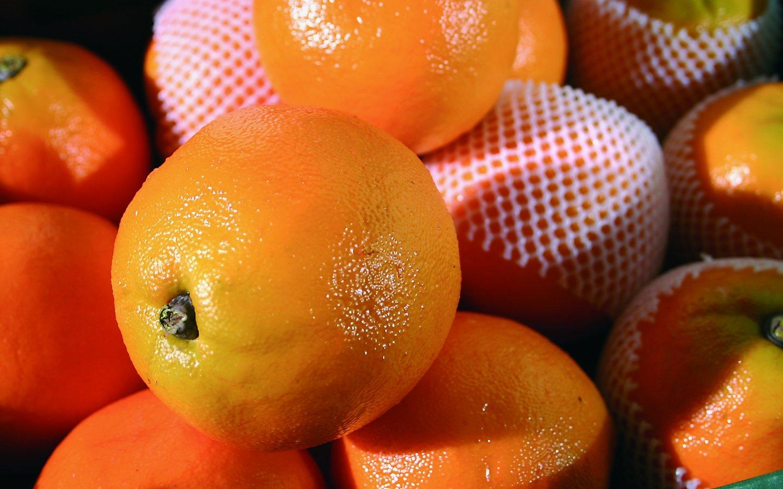 Künstliche Orange, 9 cm, orange