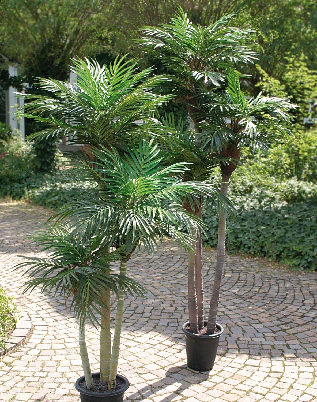 Künstliche Palme, 3-fach, getopft, 180 cm, grün