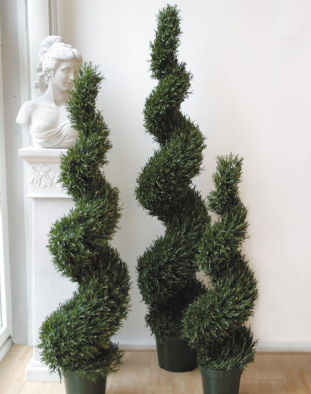 Künstliche Rosmarin Spirale, getopft, 180 cm, grün