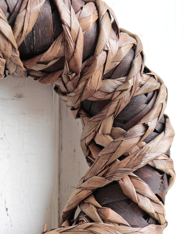 Künstlicher Dekokranz 'natur', Ø 30 cm, braun