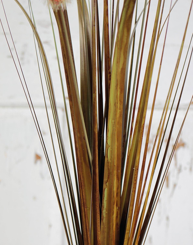 Künstliche Kugelgras, 75 cm, braun-grün