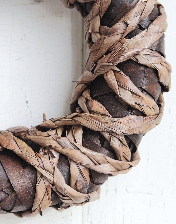 Künstlicher Dekokranz 'natur', Ø 27 cm, braun