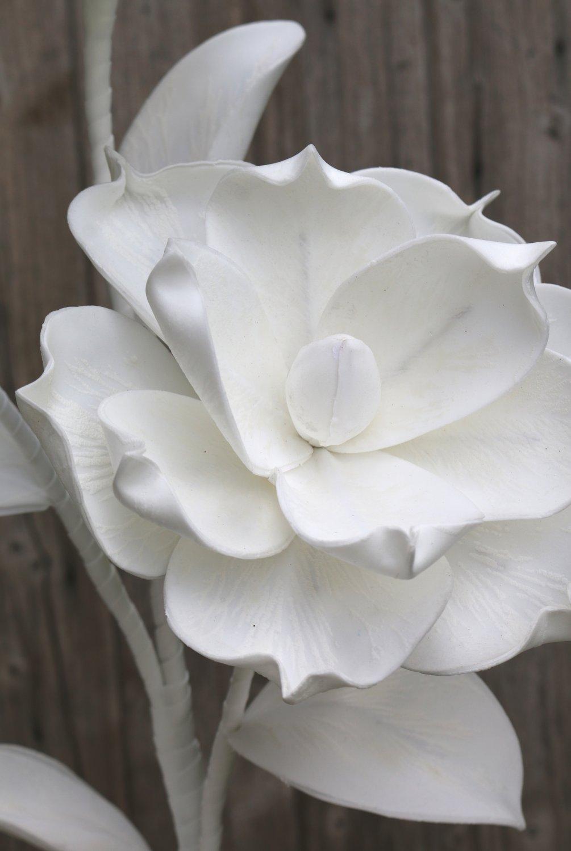 Künstliche Soft flower 'Blüte', 115 cm, pur weiß