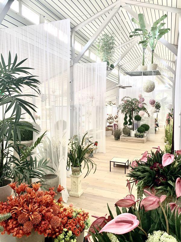 Hochwertige Kunstpflanzen im Showroom von H.Andreas