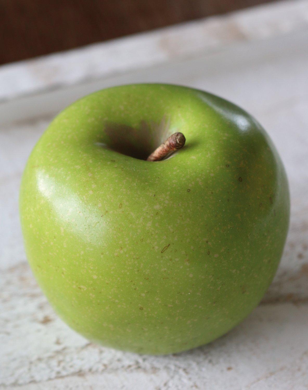 Künstlicher Apfel, 7 cm, grün