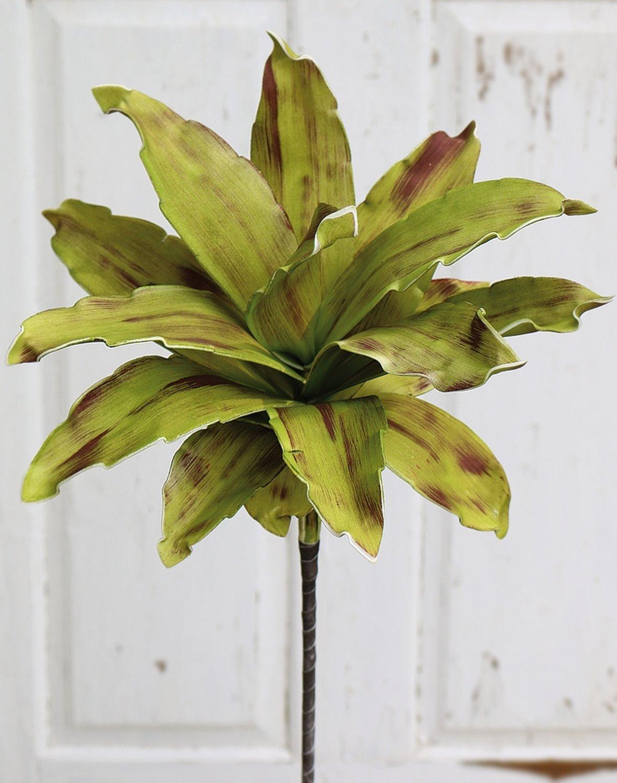 Künstliche Soft flower 'Agave', 90 cm, grün-burgunderrot
