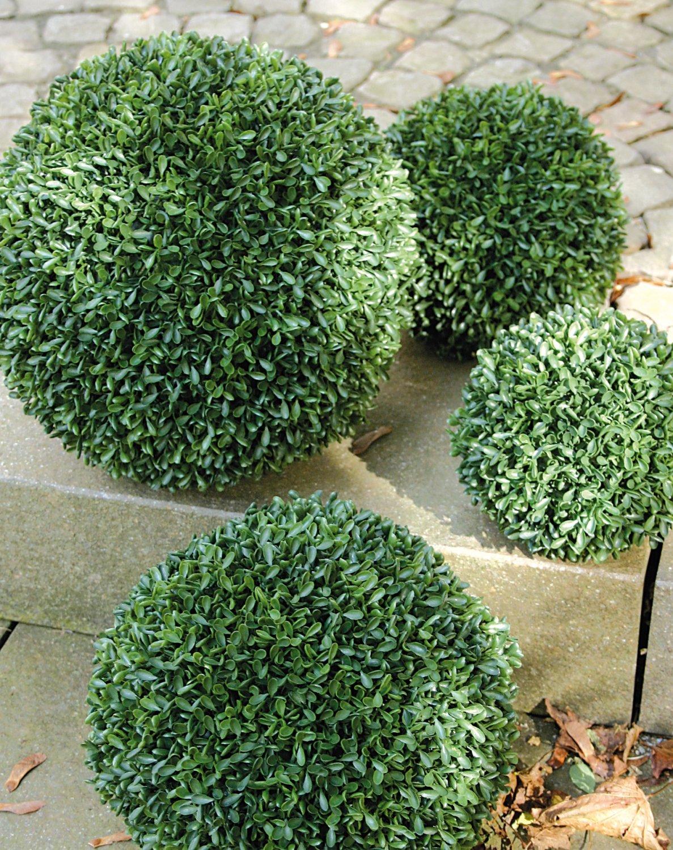 Künstliche Buchsbaumkugel aus Kunststoff, Ø 28 cm, grün