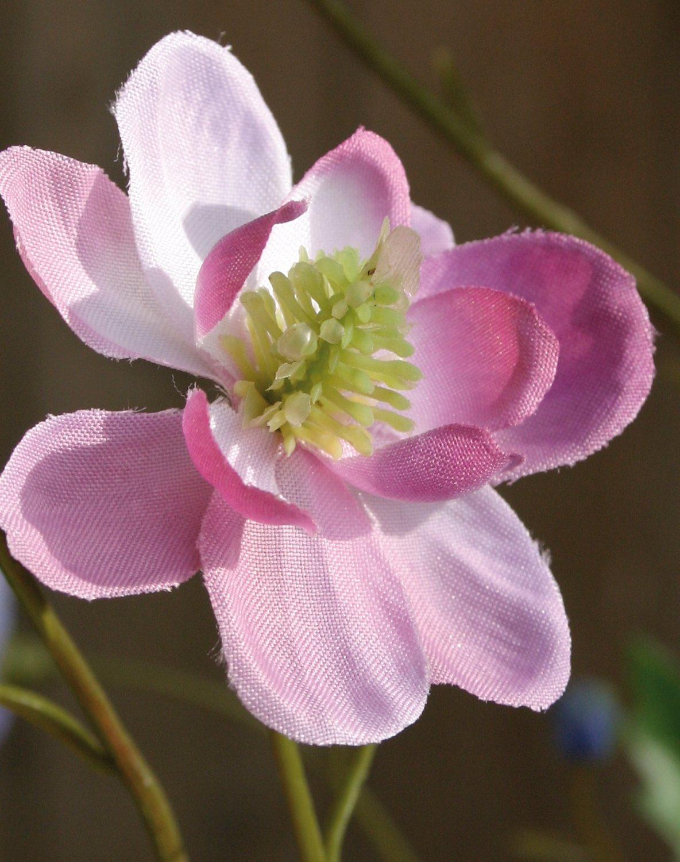 Künstliche Akelei, 99 cm, rosa-grün
