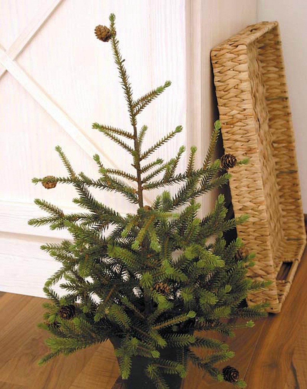 Künstlicher Tannenbaum, getopft, 60 cm, grün