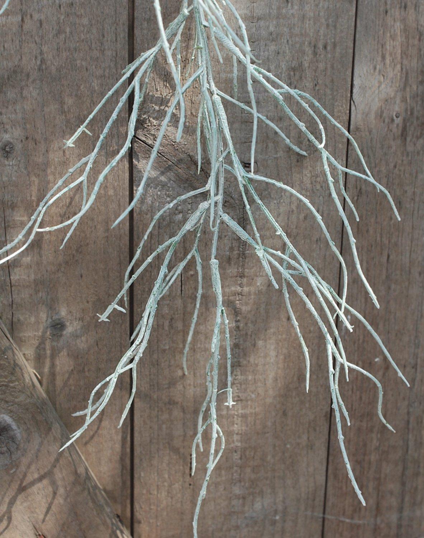 Künstliche Tillandsia, hängend, 104 cm, frost-grün