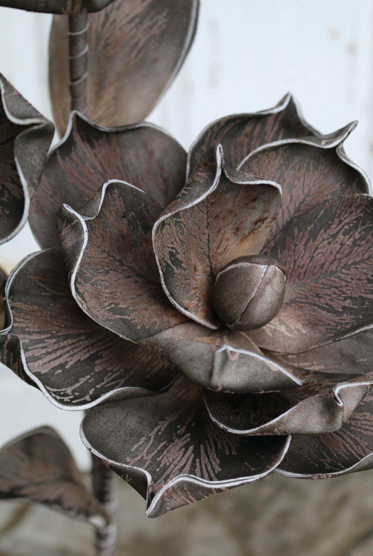 Künstliche Soft flower 'Blüte', 115 cm, braun