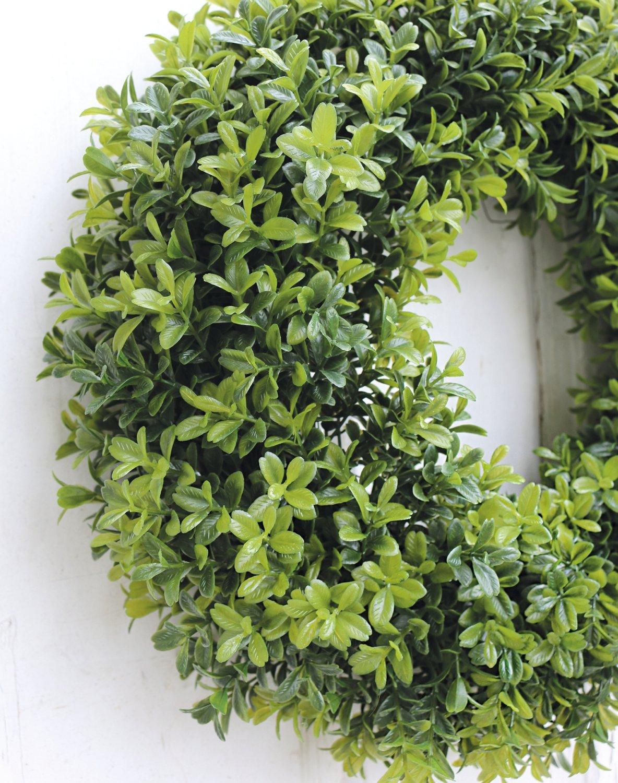 Künstlicher Buchsbaum Kranz, Ø 40 cm, grün