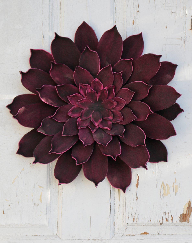 Künstliche Soft flower 'Blüte / Wanddeko', Ø 42 cm, rot-schwarz