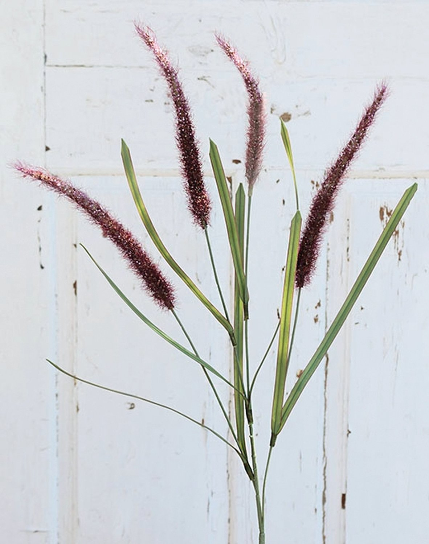 Künstliche Liriope, 4-fach, 95 cm, rot-schwarz