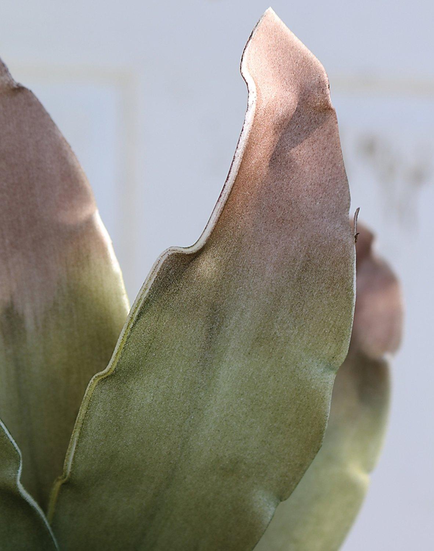 Künstliche Soft flower 'Agave', 90 cm, olive-braun