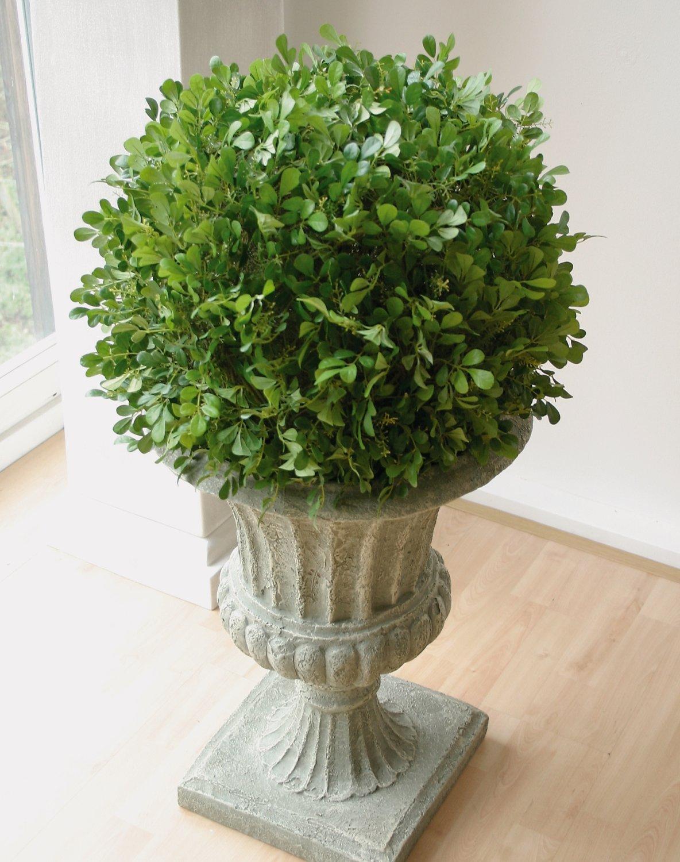 Künstliche Buchsbaumkugel, getopft, 74 cm, Ø 53 cm, grün