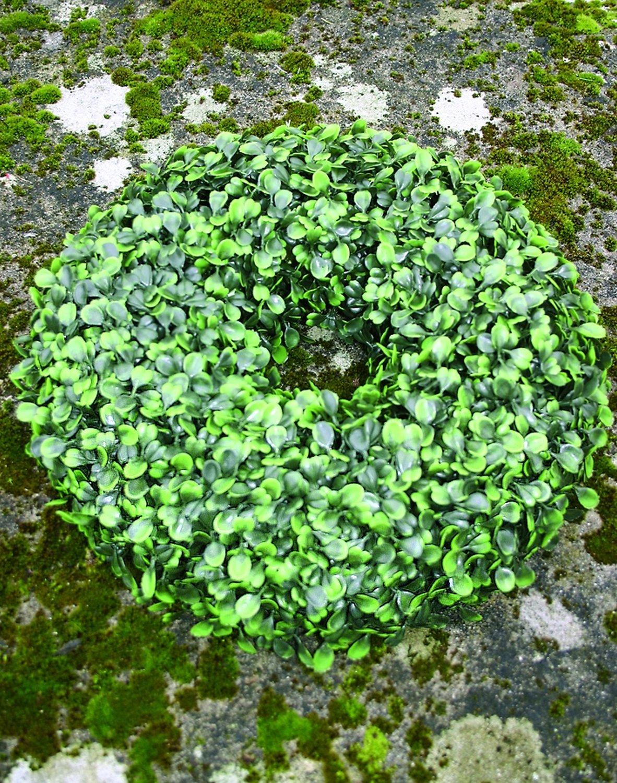 Künstlicher Buchsbaumkranz aus Kunststoff, Ø 32 cm, grün