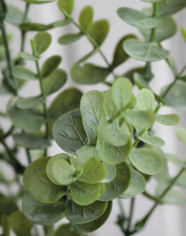 Künstlicher Eukalyptusbusch, 5-fach, 30 cm, grün