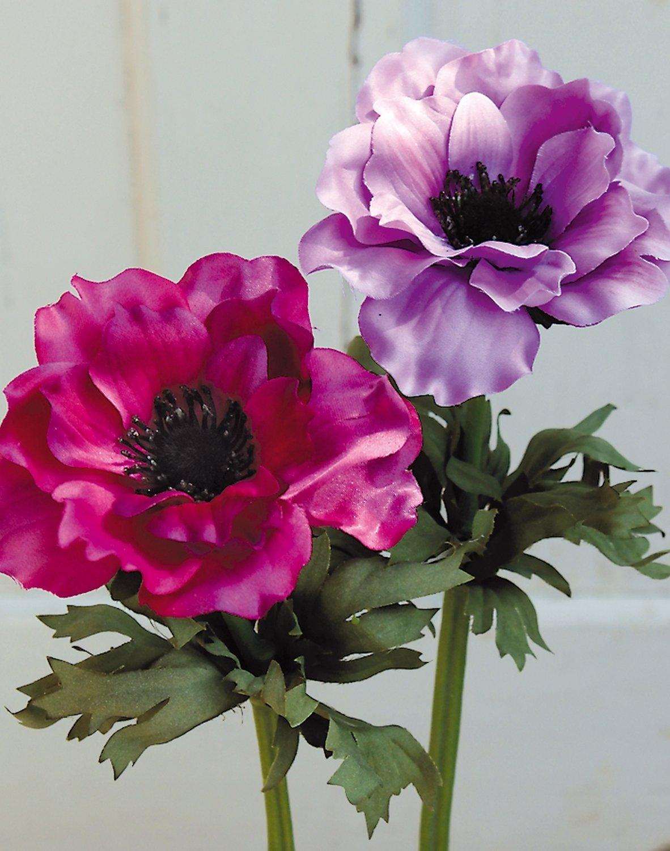 Künstliche Anemone, 35 cm, cerise