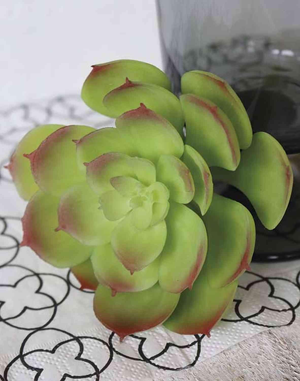 Künstliche Echeveria-Pick, 15cm, grün-rosa